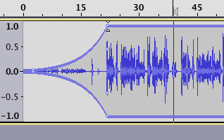 Making a fade using the envelope tool in Audacity