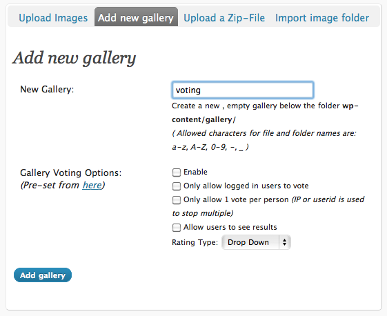 new voting gallery