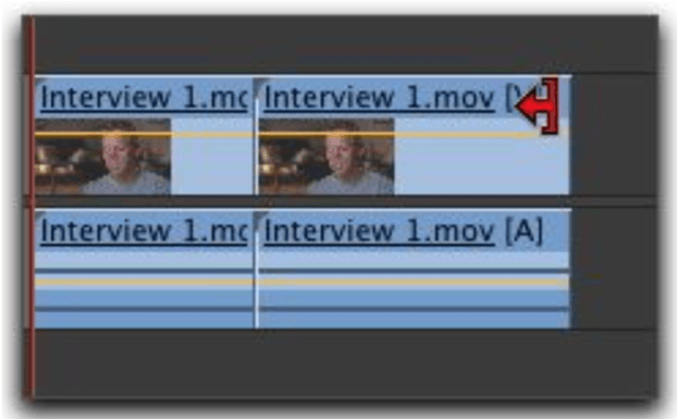 Editing clips in timeline